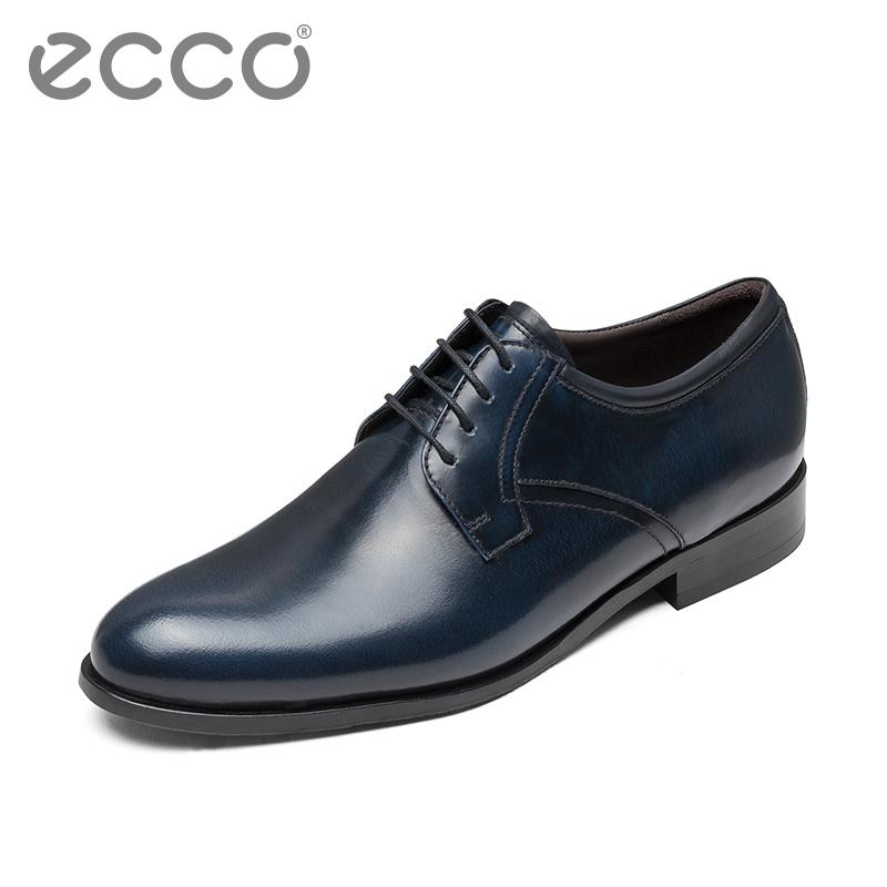 ECCO爱步 商务现代正装头层牛皮系带抛光皮鞋 欧文顿670804