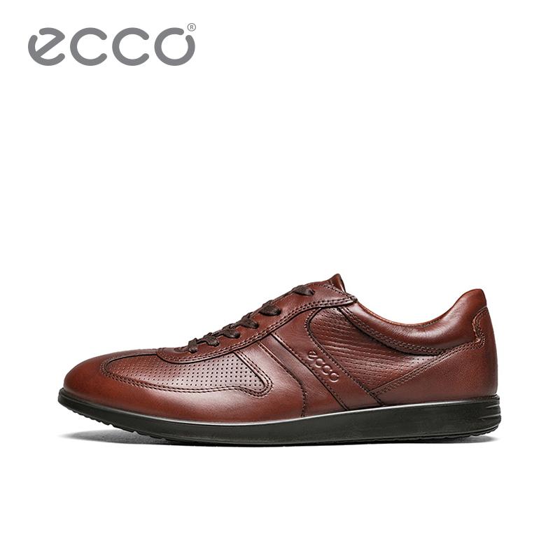 ECCO爱步春夏商务休闲皮鞋 个性打孔透气舒适男鞋 因迪纳630764