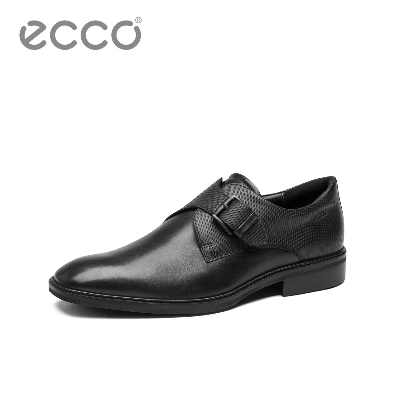 ECCO爱步透气商务休闲皮鞋男 时尚个性便捷正装鞋 意兰诺623084