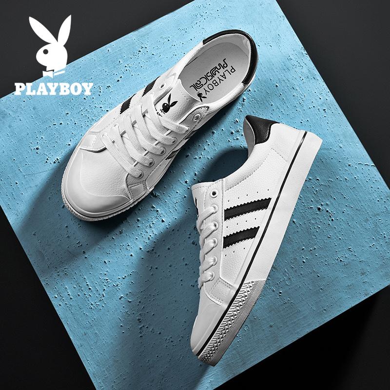 花花公子男鞋夏季2020新款复古白运动休闲鞋潮流小白鞋韩版板鞋潮