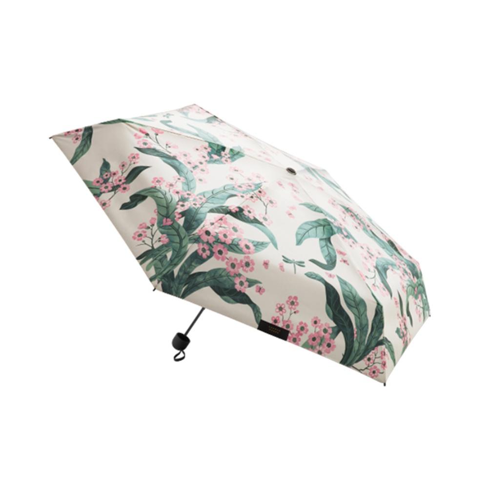 蕉下口袋单层五折防晒伞遮阳防紫外线阻隔率99%轻巧晴雨两用花影