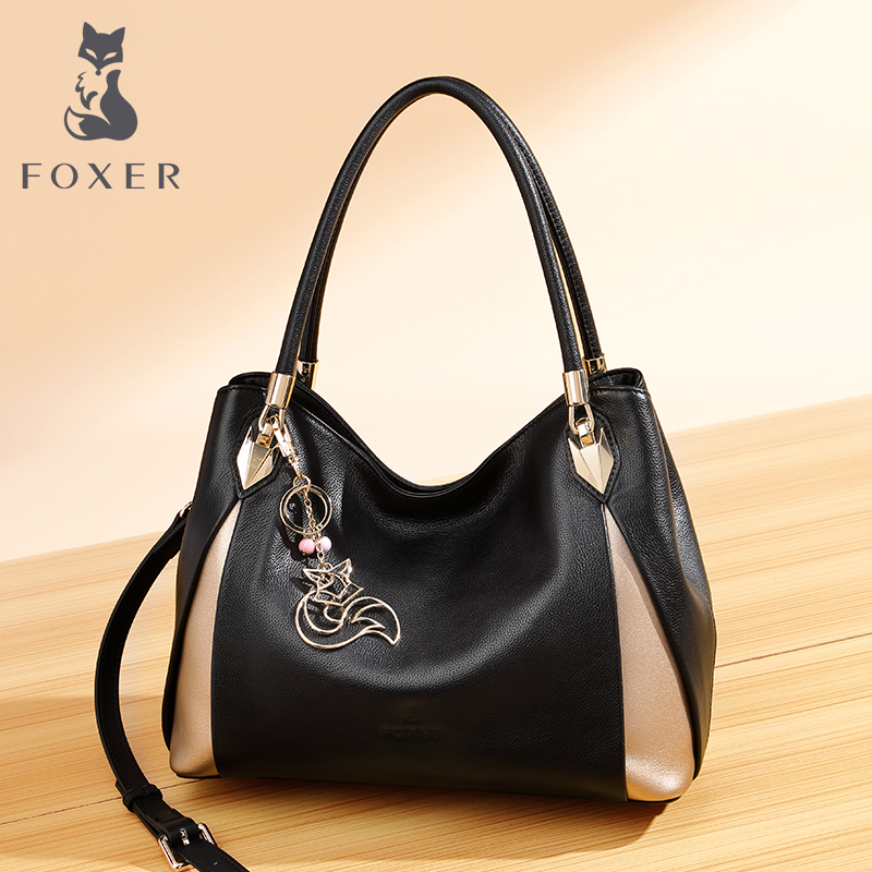 Gold Fox handbags 2019 new leather shoulder bag fashion casual soft leather ladies bag portable messenger bag