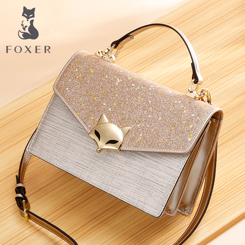 Golden Fox small CK handbag female bag woman 2019 new Tide Korean edition fashion Hundred foreign Gas crossbody bag