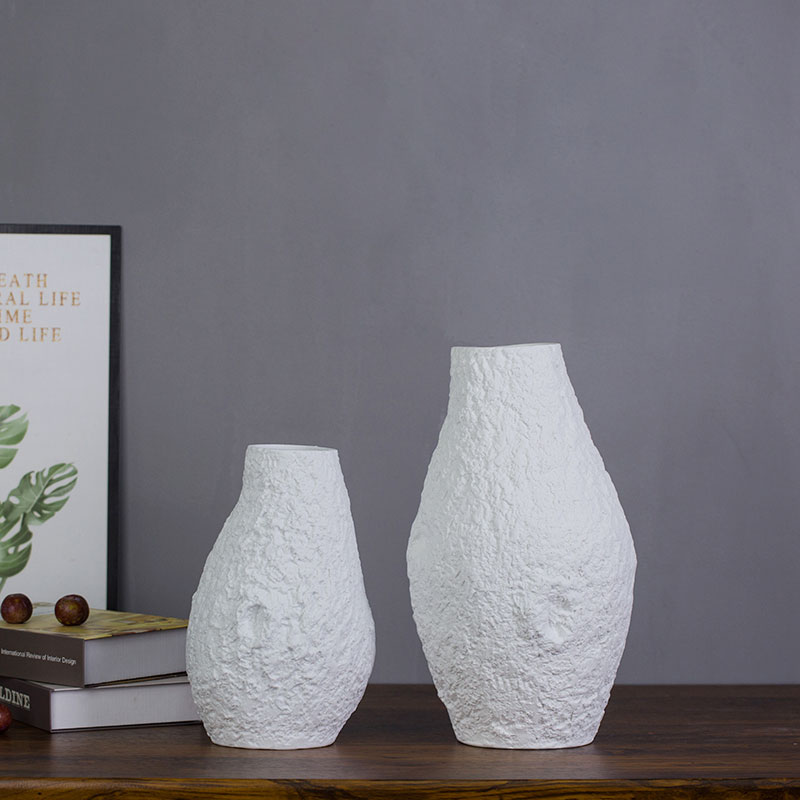 Contracted and I white mesa of creative art sitting room ceramic vase table dry flower adornment furnishing articles