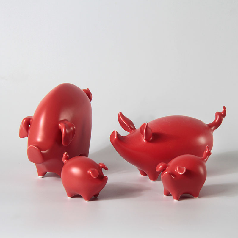 "Jingdezhen ceramics craft exquisite originality pig sweet household furnishing articles furnishing articles furnishing articles ""sitting room household pig"