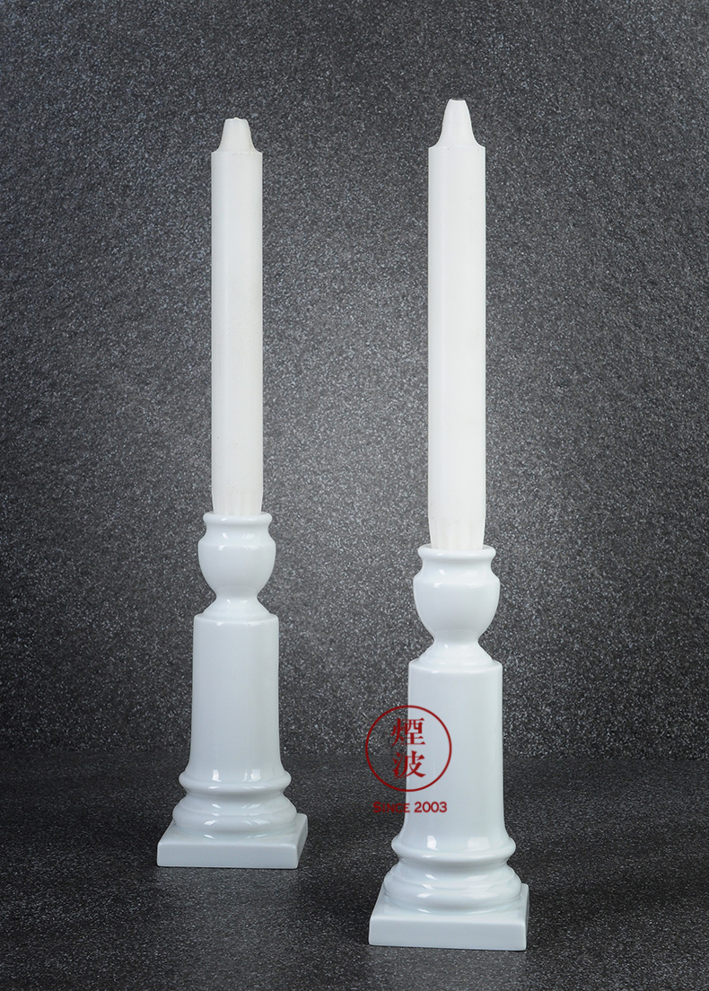 German MEISSEN mason mason meisen porcelain white candlestick combination series candlelight dinner candles