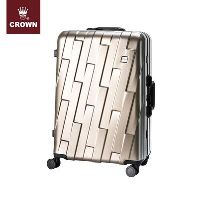 CROWN-皇冠铝框箱 窄框旋转锁 铝框旅行箱 铝框硬箱 拉杆箱 5186