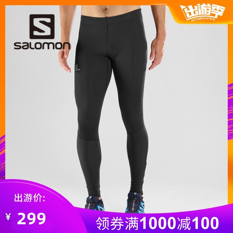 Salomon 薩洛蒙男款跑步緊身褲 AGILE LONG