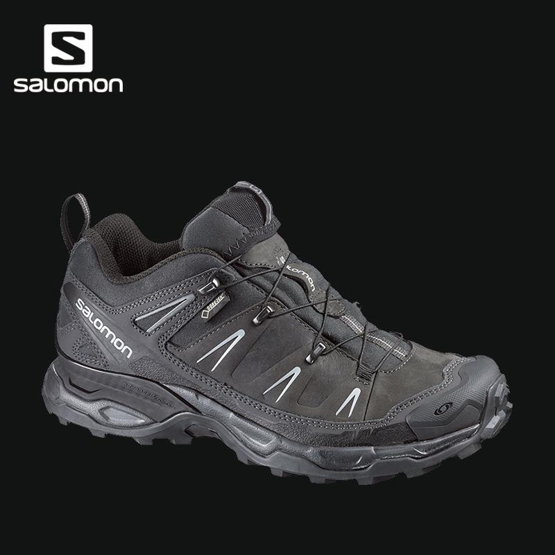 Salomon 萨洛蒙男款户外皮质防水透气徒步鞋 X ULTRA LTR GTX