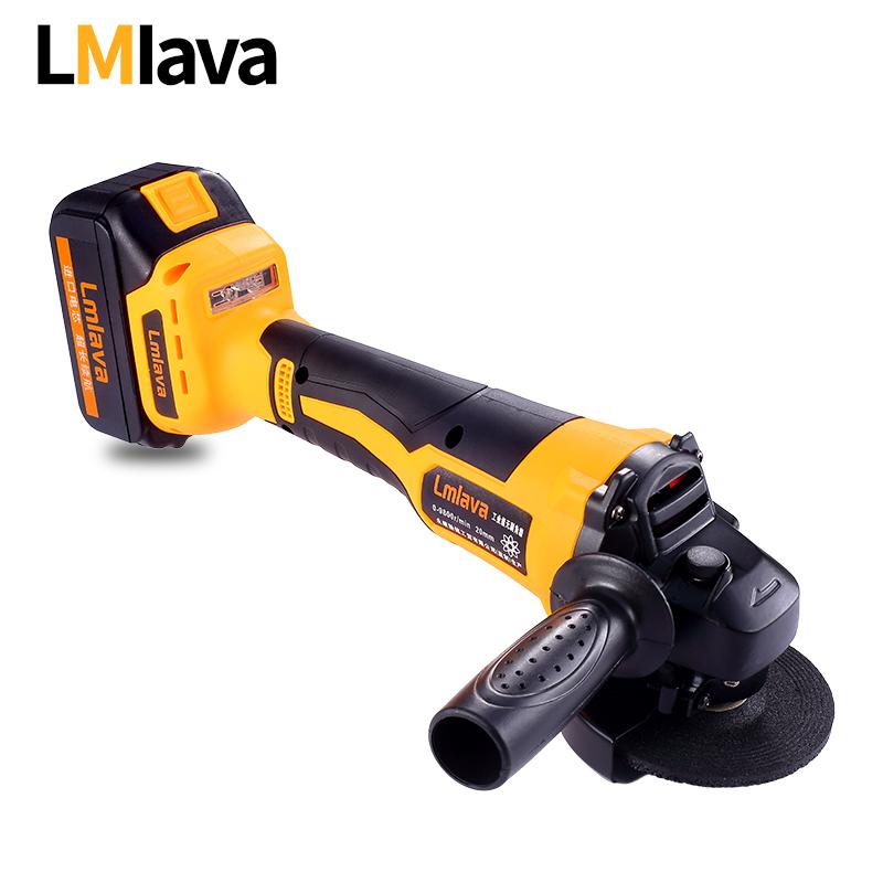 LMlava无刷锂电角磨机充电式多功能抛光机切割机打磨机角向磨光机