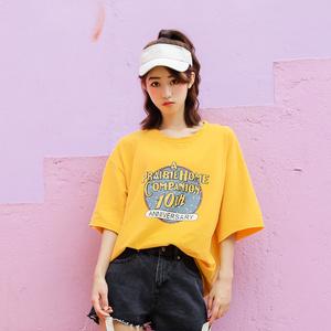 9020#实拍新款夏装宽松半袖韩版学生短袖T恤