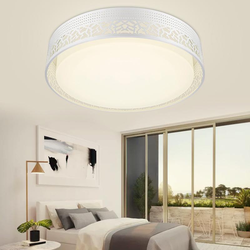 雷士照明LED卧室灯圆形吸顶灯温馨浪漫灯具现代简约书房灯 预