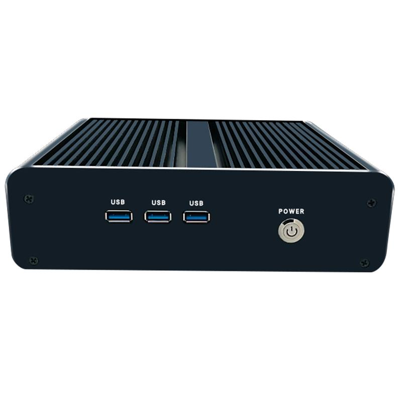 迷你主机酷睿i3i5i7微型电脑HTPC家用办公台式机minipc无风扇工控机DIY整机