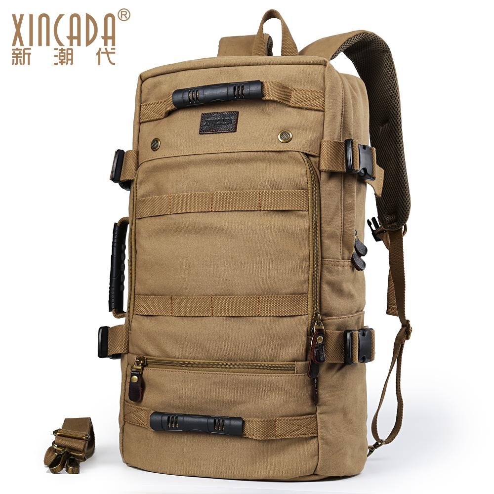新潮代男士背包多功能手提帆布包旅游双肩包运动户外旅行包大容量