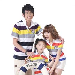 儿童节一家三口大码亲子装夏装全家装纯棉短袖T恤家庭装