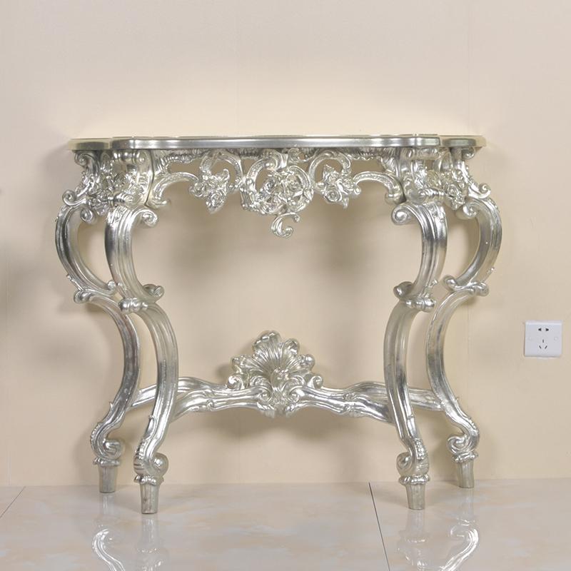欧式玄关桌半圆靠墙现代简约玄关台小家具搭配欧式轻奢边桌装饰