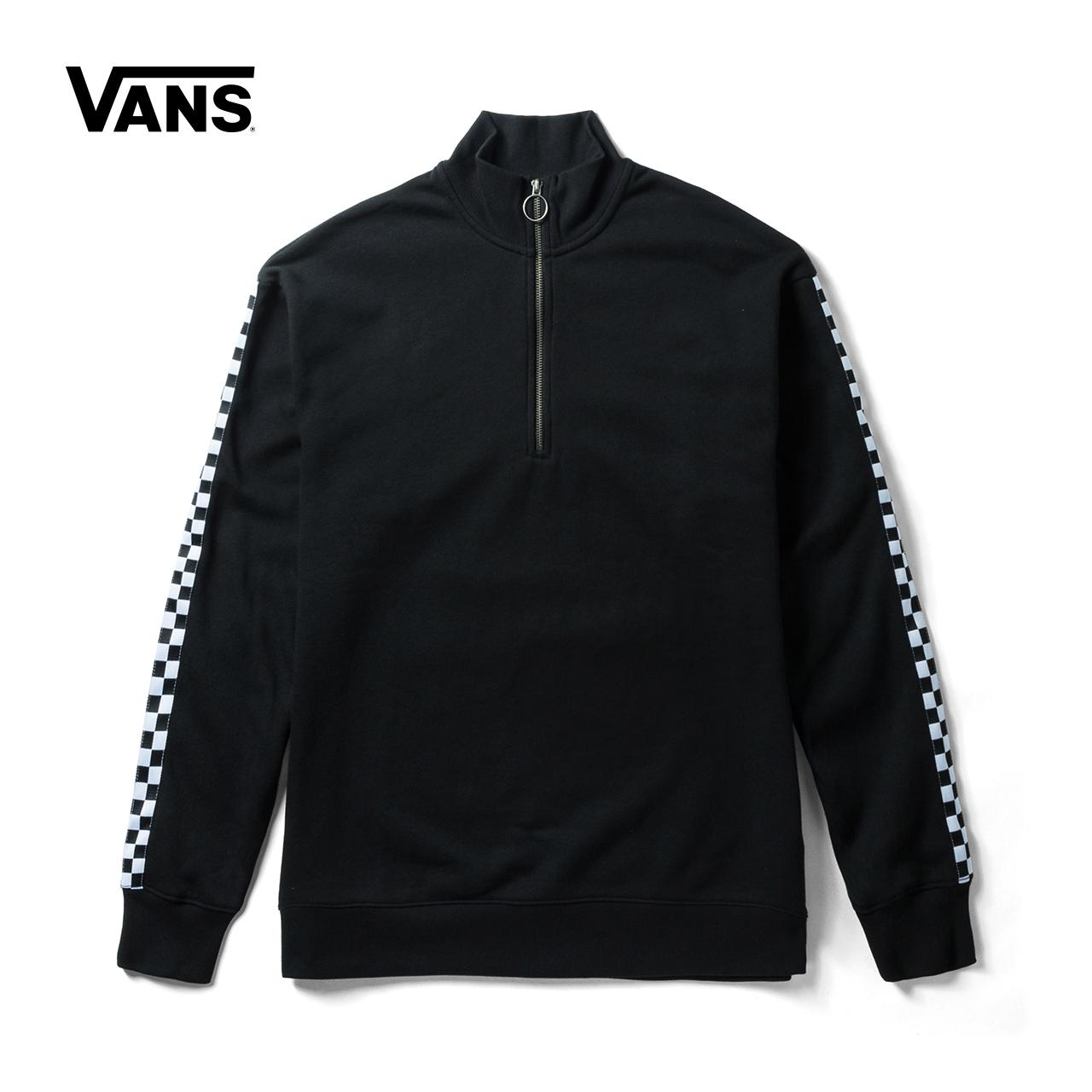 Vans 范斯官方秋季女款黑色加绒套头卫衣|VN0A3QVWBLK