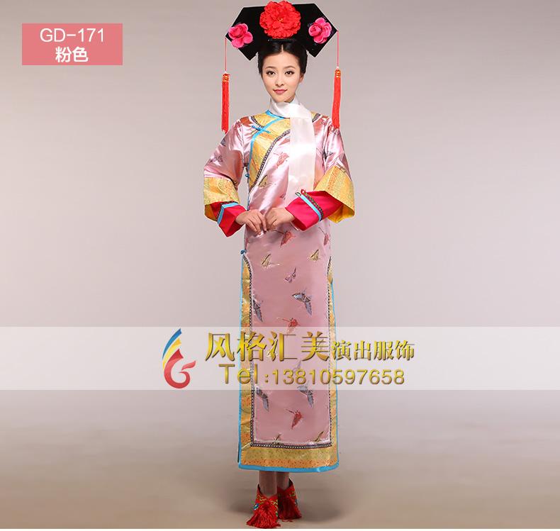 清朝皇后还珠格格演出服装女古代服装甄嬛传宫女cos服饰影视古装