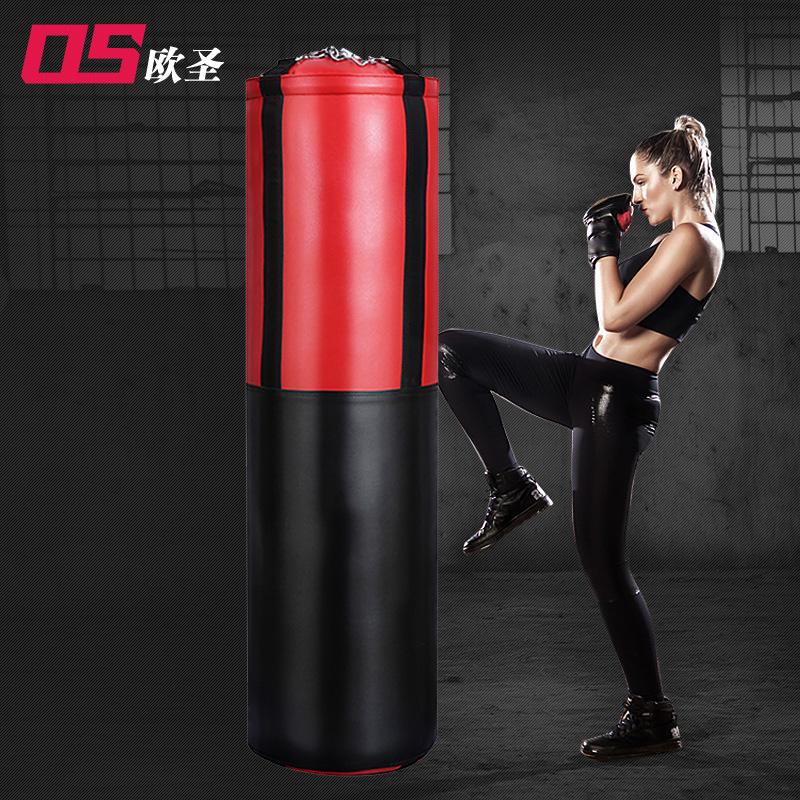 欧圣 加厚实心拳击沙袋散打吊式家用成人沙包体育用品健身器材