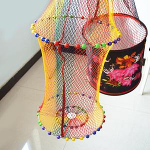鱼护加厚耐磨挂胶黑坑鱼护手工编织双圈防挂速干涂胶防臭大渔护网