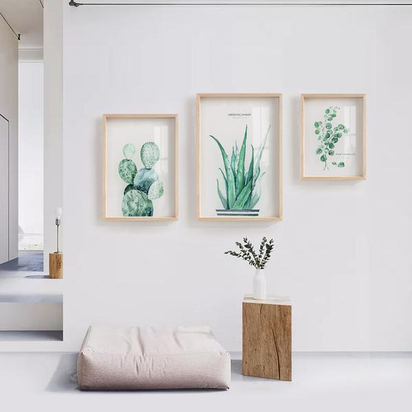 北欧ins 透明绿色植物装饰画