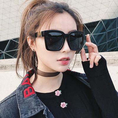 墨镜女韩版潮太阳镜2018新款超大框偏光镜圆脸复古原宿风个性眼镜