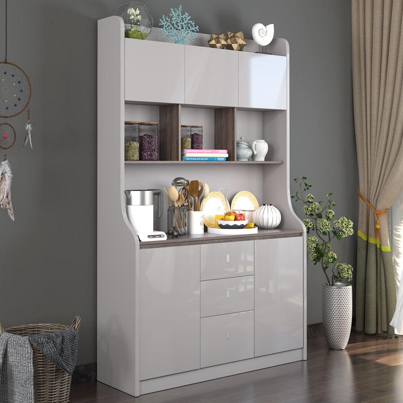 雅舍风情餐边柜微波炉柜茶水柜储物柜现代简约创意北欧小户型高柜