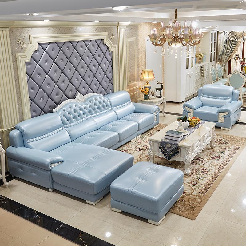 凯瑞蒂欧式真皮沙发头层牛皮客厅组合皮质整装小奢华家居皮艺沙发