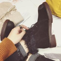 【天天特价】马丁靴女鞋冬季2016新款真皮短靴英伦风雪地靴女靴子