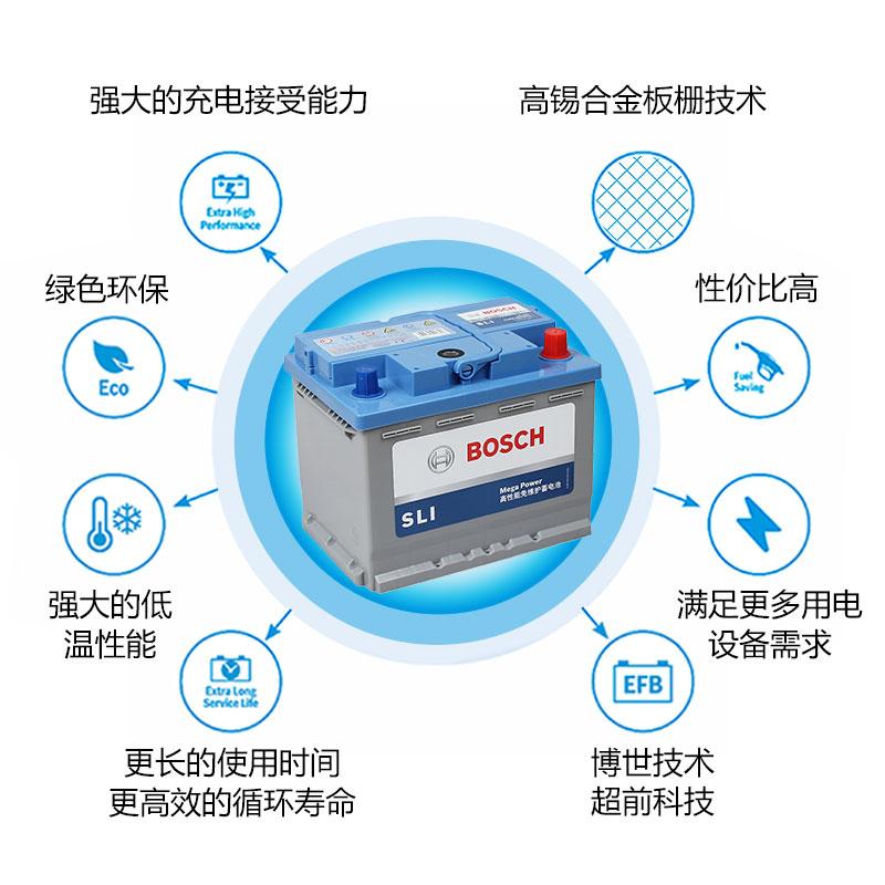 博世汽车电瓶蓄电池L2-400专用科鲁兹英朗新君威越朗逸大众宝来免