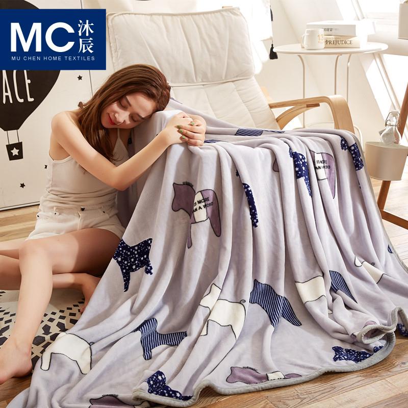 夏季空调盖毯法兰绒毯子秋冬加厚法莱绒毛毯珊瑚绒毯学生毛巾被子