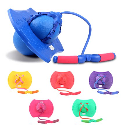 Children Adult Rope Pulling Bouncing Ball For Fitness Jumping Exercise