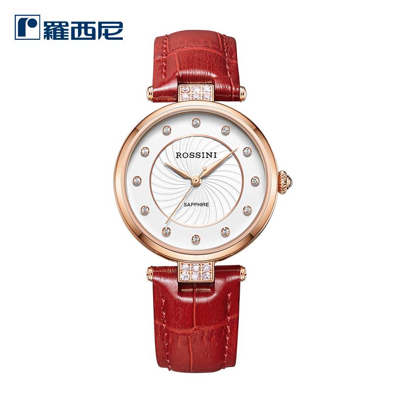 罗西尼正品手表 皮带手表女 时尚休闲简约防水时装石英表616764