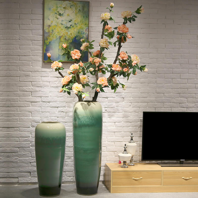 New Chinese style of large vases, flower arranging European ceramic furnishing articles sitting room decoration to the hotel club flower implement the simulation of the flower