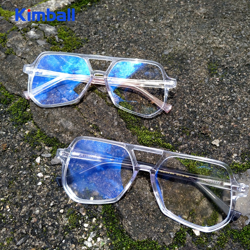 Kimball黑灰蚂蚁透明眼镜平光近视眼镜框架男女大框潮个性多边形