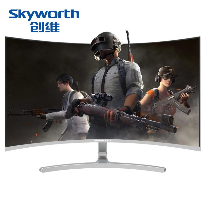 创维 144Hz显示器 27英寸窄边框CF27B寸曲面电脑屏幕吃鸡电竞曲屏