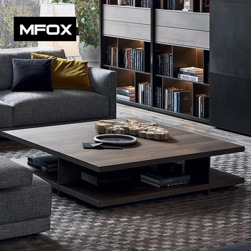 MFOX北欧茶几简约现代正方形客厅家具茶几家用创意小户型通用茶几