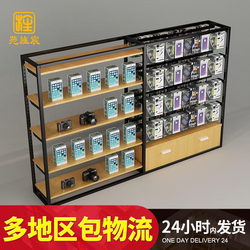 手机配件展示柜中岛柜手机配件柜自由组合木质产品手机配件展示架