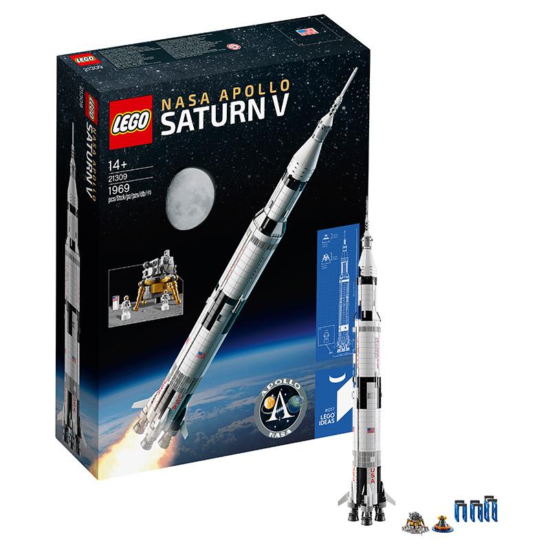 乐高Ideas系列21309美国宇航局阿波罗土星五号 LEGO积木玩具收藏