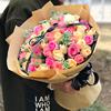全国99朵红玫瑰韩式花束长沙广州鲜花速递同城成都武汉花店配送花
