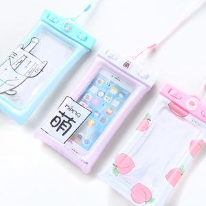 包邮夏日神器7plus解锁卡通手机防水袋5.5寸通用游泳气囊浮潜水套