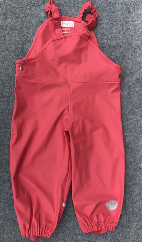 Цвет: Розовый красный новый подтяжки дождь брюки