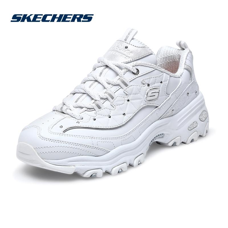 Skechers斯凯奇女鞋新款D'lites时尚复古鞋 拼接休闲熊猫鞋 13087