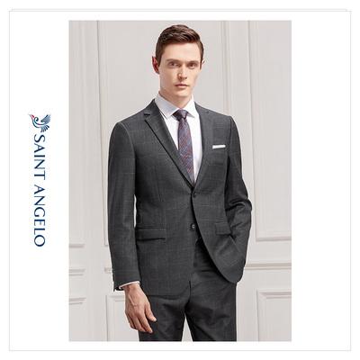报喜鸟新款男士商务休闲西服套装 英伦修身羊毛青年职业西装