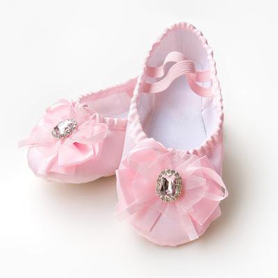 bright Diamond Satin children's dance shoes, children's dance training shoes, soft bottom ballet shoes, cat claw shoes