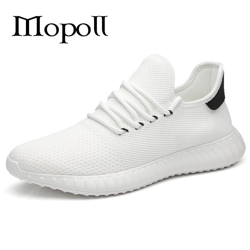 秋季鞋子男潮鞋韩版潮流飞织鞋男士网鞋透气白色运动鞋百搭跑步鞋