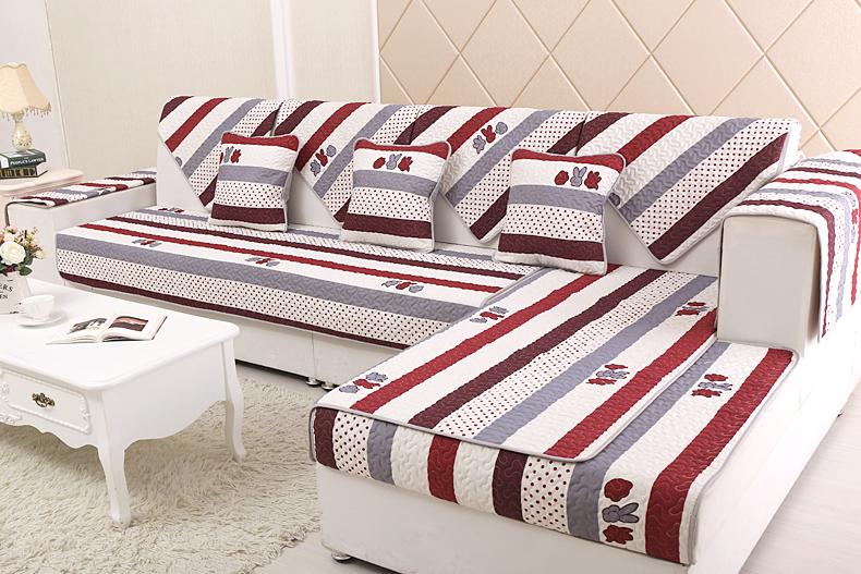 好安家 布艺沙发垫 四季款高档素色沙发巾 时尚防滑真皮沙发套罩