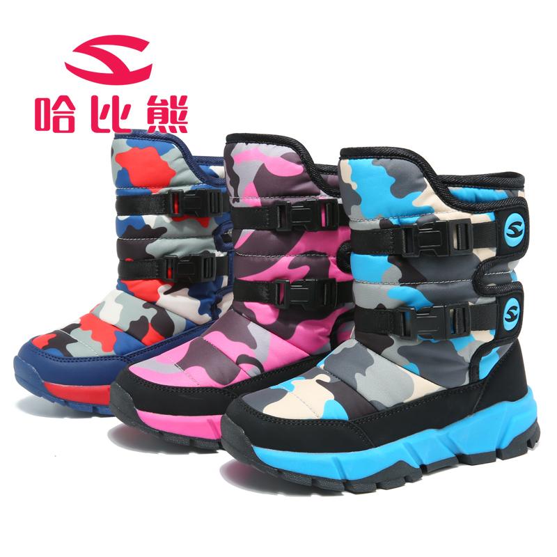 女童靴子加绒儿童棉靴防水2018新款秋冬季雪地鞋保暖冬靴童鞋短靴