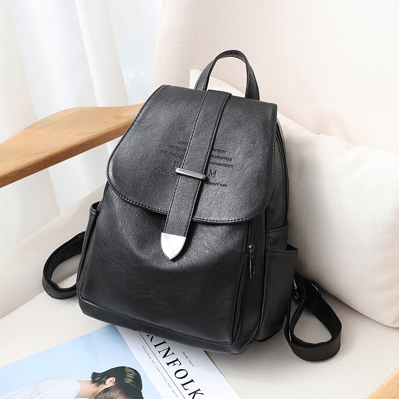 Backpack ladies 2018 new Korean version of the wild tide backpack soft leather casual fashion travel large capacity bag