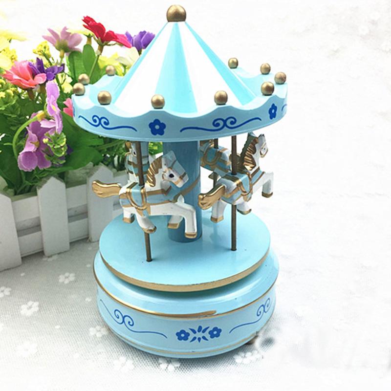 Cake Decoration Carousel Music Box Child Birthday Cake Decoration